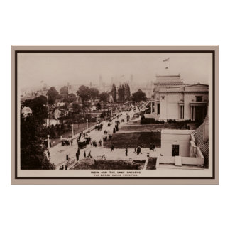 Vintage 1924 British Empire Exhibition photo Poster