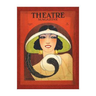 Vintage 1924 de la portada de revista del teatro impresión en lona