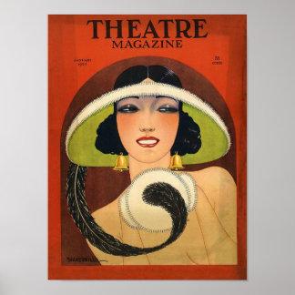 Vintage 1924 de la portada de revista del teatro posters