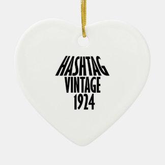 vintage 1924 designs ceramic ornament