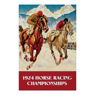 Vintage 1924 Horse Racing ad Posters