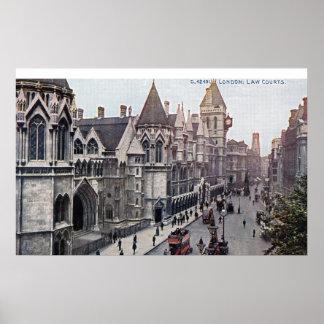 Vintage 1925 de Londres Inglaterra de las cortes d Impresiones