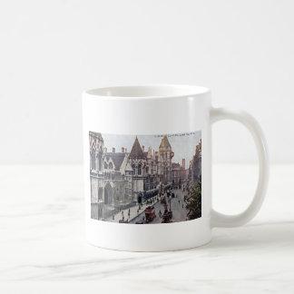 Vintage 1925 de Londres Inglaterra de las cortes d Tazas De Café