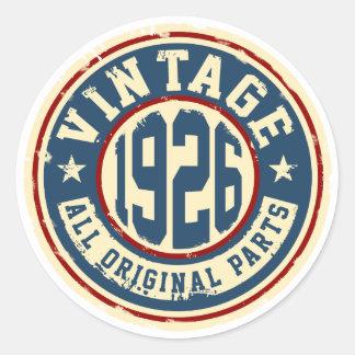 Vintage 1926 All Original Parts Classic Round Sticker