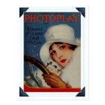 Vintage 1927 Hollywood movie magazine cover Postcard