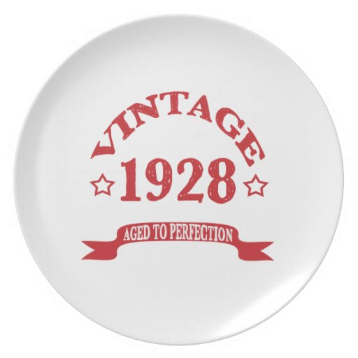 Vintage 1928 Aged to Paerfection Party Plates