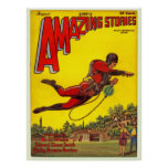"Vintage 1928 ""Amazing Stories"" comic Poster"