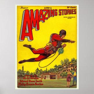 "Vintage 1928 ""Amazing Stories"" comic Poster"