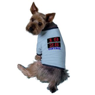 Vintage 1928 camiseta de perro