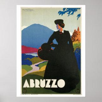 Vintage 1930 Abruzzo Italian travel ad Poster