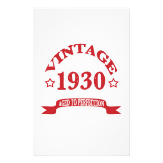 Vintage 1930 Aged to Paerfection Stationery