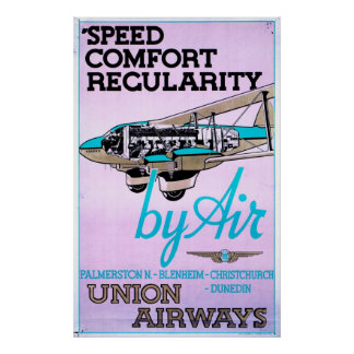 Vintage 1930 Airlines Poster