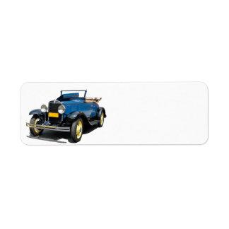 Vintage 1930 Chevy Convertible Automobile Label