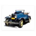 Vintage 1930 Chevy Convertible Automobile Postcard