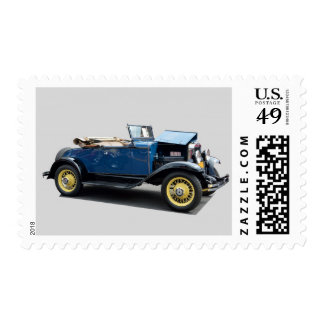 Vintage 1930 convertible automobile postage