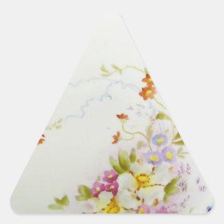 Vintage 1930 del ornamento de Weimar Pegatina Triangular