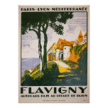 Vintage 1930 Flavigny French Travel Poster