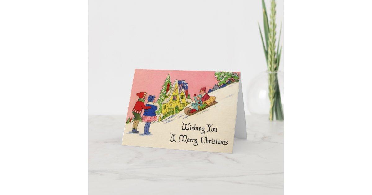 Vintage 1930s Art Deco Christmas Card | Zazzle.com