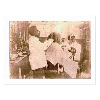 Vintage 1930's Black Barbershop Postcard