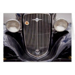 Vintage 1930s Chevy Classic Grill Photograph Greeting Card