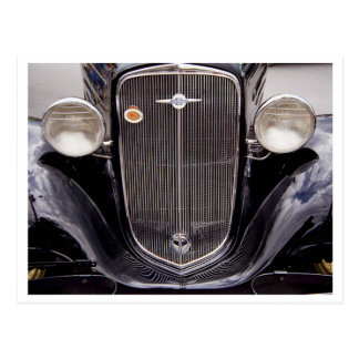 Vintage 1930s Chevy Classic Grill Photograph Postcard