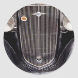 Vintage 1930s Chevy Classic Grill Photograph Round Sticker