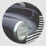 Vintage 1930s Classic Car Grill Photo Round Stickers