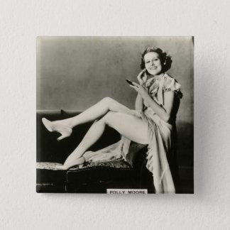 Vintage 1930s Film Star Pinup Button