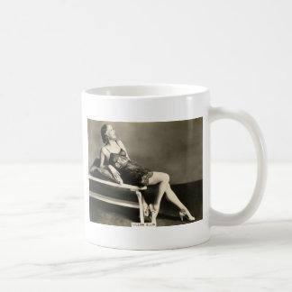 Vintage 1930s Film Star Pinup Coffee Mug