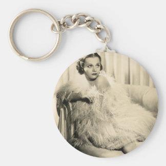 Vintage 1930s Film Star Pinup Keychain