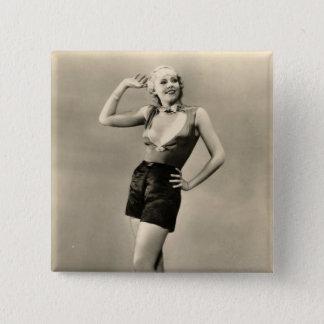 Vintage 1930s Film Star Pinup Pinback Button