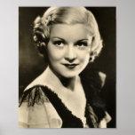 Vintage 1930s Film Star Pinup Print