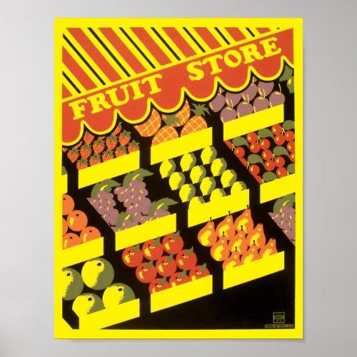 Vintage 1930's Fruit Store WPA
