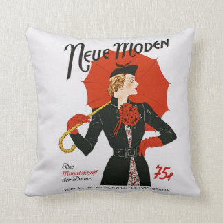 Vintage 1930s German Magazine Cover Neue Moden Pillow
