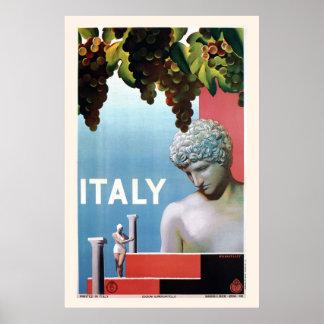 Vintage 1930s Italy Italian travel Poster