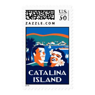 Vintage 1930s  Santa Catalina Island Art Postage