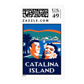Vintage 1930s  Santa Catalina Island Art Stamp
