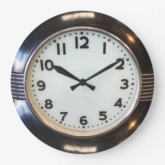 Vintage 1930 S Style Art Deco Wall Clock Zazzle Com