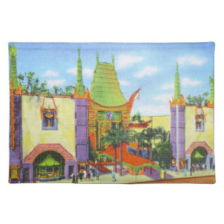 Vintage 1931 Grauman's Chinese Theater Cloth Placemat