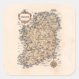 Vintage 1931 Ireland map birthday gift idea Square Sticker