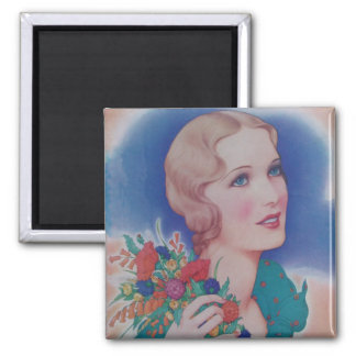 Vintage 1931 Style 2 Inch Square Magnet
