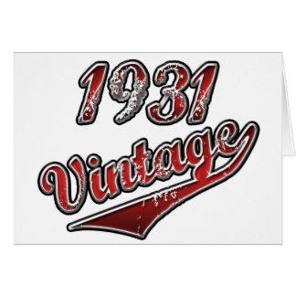 Vintage 1931 tarjeta de felicitación