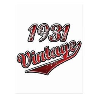 Vintage 1931 tarjeta postal