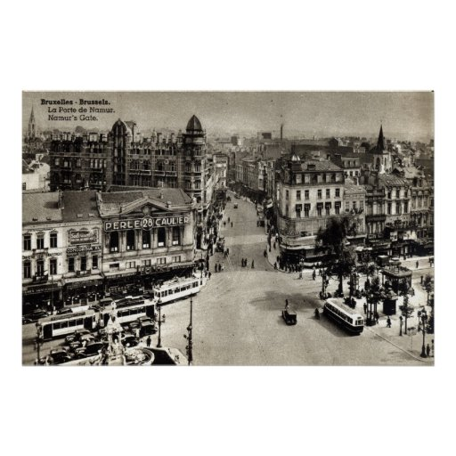 Vintage 1932 de Bruselas Bélgica de la puerta de N Impresiones