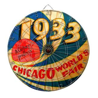 Vintage 1933 Chicago World's Fair Advertising Game Dartboard