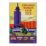 Vintage 1933 Chicago Worlds Fair Poster