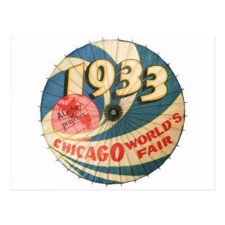 Vintage 1933 Chicago World's Fair Souvenir Art Postcard
