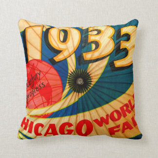 Vintage 1933 World's Fair Century of Progress Ad Pillows
