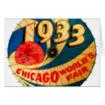 Vintage 1933 World's Fair Century Progress Ad Art Card