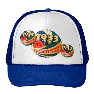 Vintage 1933 World's Fair Century Progress Ad Art Trucker Hat